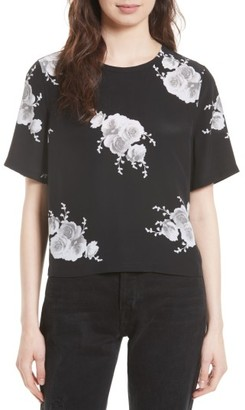 Women's Equipment Brynn Silk Tee $188 thestylecure.com