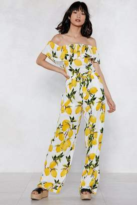 Nasty Gal You're My Main Squeeze Lemon Jumpsuit