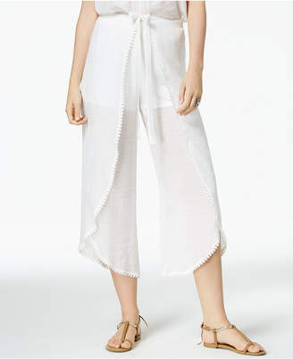 BCX Juniors' Cropped Wrap Pants