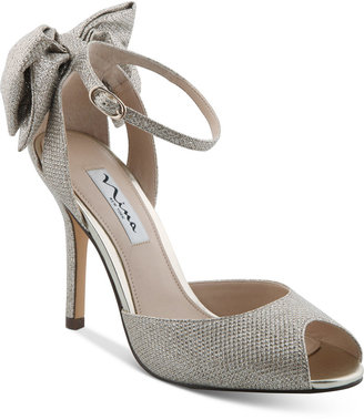 Nina Martina d'Orsay Bow Evening Sandals $99 thestylecure.com