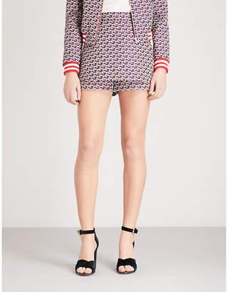 Maje Rosa floral-pattern jacquard shorts