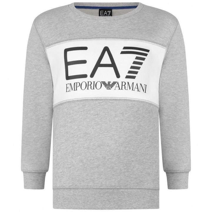 EA7 Emporio ArmaniBoys Grey Logo Print Sweatshirt