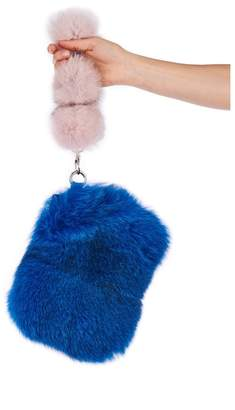 Pandora Popski London Pom Pom Bag - Blue And Pink
