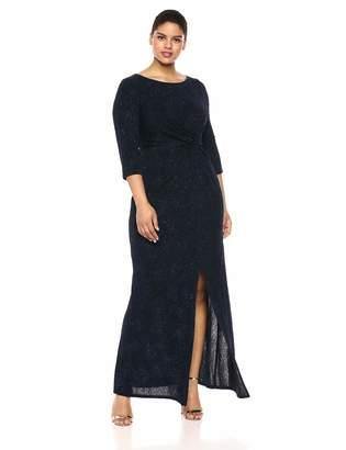 Alex Evenings Women's Plus Size Dress with Keyhole Cutout