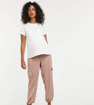 Asos DESIGN maternity pocket detail utility trousers