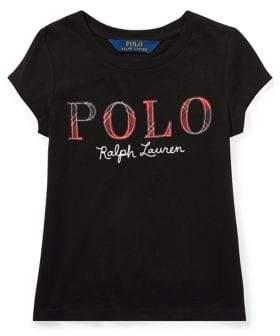 Ralph Lauren Childrenswear Baby Girl's Tartan Plaid Polo Jersey Cotton Tee