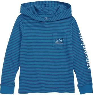 Vineyard Vines Stripe Whale Hoodie T-Shirt