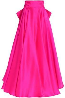 Milly Bow-Detailed Iridescent Duchesse Silk-Satin Maxi Skirt