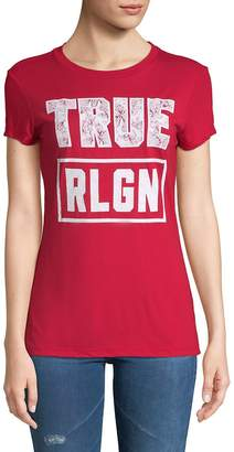 True Religion Women's Floral Graphic Short-Sleeve Tee