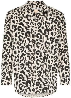 Eytys Donovan leopard print cotton shirt