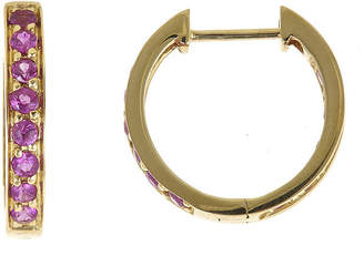 JCPenney FINE JEWELRY LIMITED QUANTITIES Lead Glass-Filled Ruby Hoop Earrings