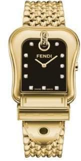 Fendi B. Diamond Stainless Steel Bracelet Watch