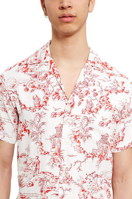 Opening Ceremony X Aloha Blossom Porcelain Short-Sleeve Shirt