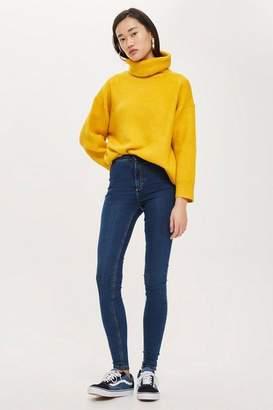 Topshop Womens Tall Rich Blue Joni Jeans