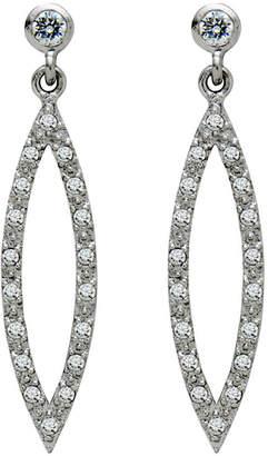 BRIDGE JEWELRY Cubic Zirconia Long Drop Earrings