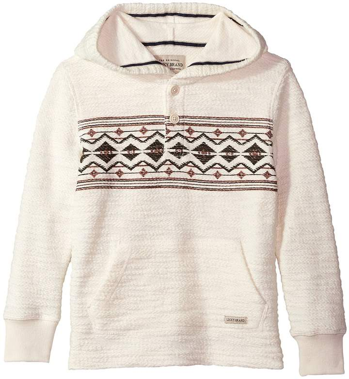 Lucky Brand Kids Long Sleeve Pullover Hoodie (Big Kids)