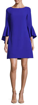 Eliza J Bell-Sleeve Shift Dress