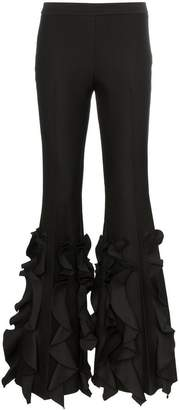 Giambattista Valli high-waisted ruffle flare trousers