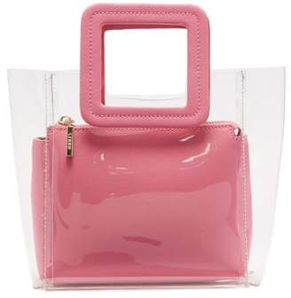 Staud - Mini Shirley Pvc And Leather Tote Bag - Womens - Pink Multi