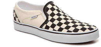 Vans Asher Checkered Slip-On Sneaker - Women's - Black/Off