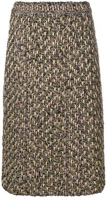 M Missoni embroidered midi skirt