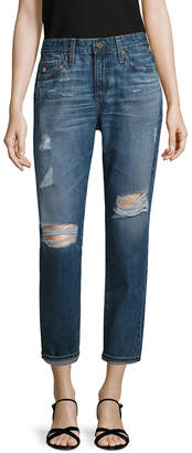 AG Jeans Adriano Goldschmied Beau Distressed Ankle Pant