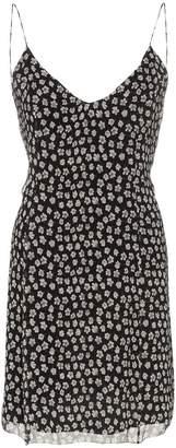 Amiri sleeveless floral print silk slip dress