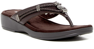 Minnetonka Starla Wedge Thong Sandal $55 thestylecure.com