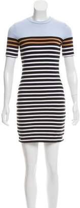 Alexander Wang Stripe-Accented Mini Dress