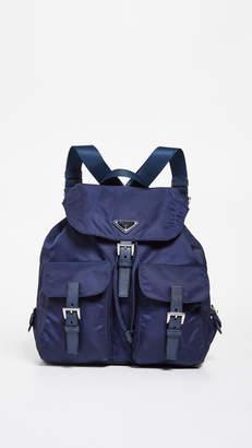 Prada What Goes Around Comes Around Nylon Medium Backpack