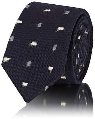 Alexander Olch Men's Rectangular-Dot Wool Necktie