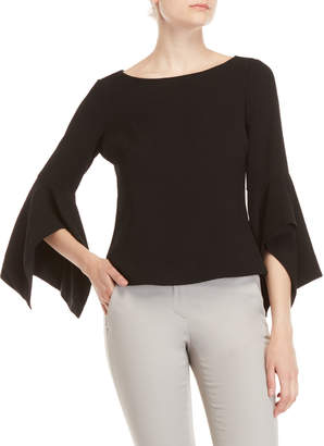 Badgley Mischka Handkerchief Sleeve Top