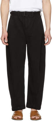 Black Twisted Chino Trousers