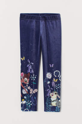 H&M Velour Leggings - Blue