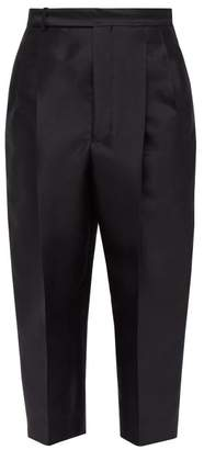 Haider Ackermann Cropped Wool Blend Twill Trousers - Mens - Black