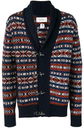 Pringle Fair Isle toggle cardigan
