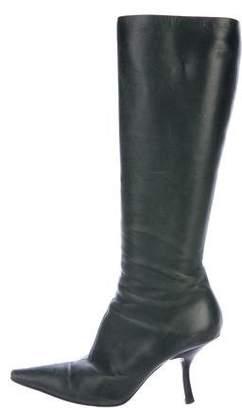 Prada Knee-High Pointed-Toe Boots