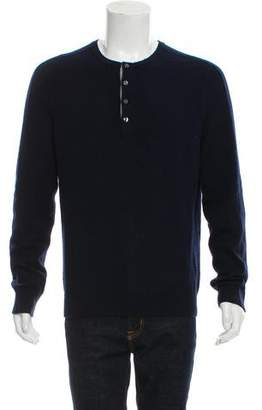 Vince Cashmere Henley Sweater
