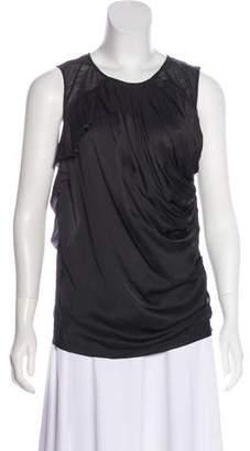 Nina Ricci Ruffle-Trimmed Sleeveless Top