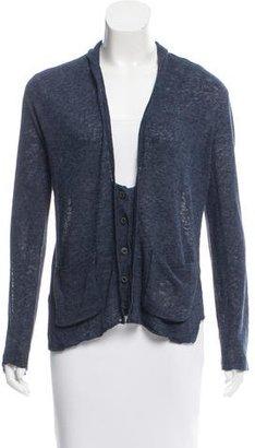 Inhabit Linen-Blend V-Neck Cardigan w/ Tags $125 thestylecure.com