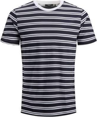 Jack and Jones Short-Sleeve Striped Crew Neck Tee