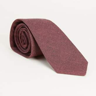 Blade + Blue Solid Burgundy Chambray Tie