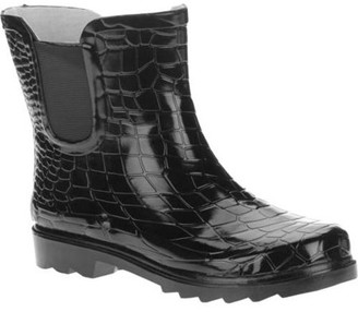 FOREVER YOUNG Forever Young Ladies Ankle Length Croc Texture Rain Boots
