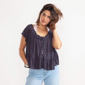 Free People Charlie Tee Burnished Lavender Grey Top - X-Small