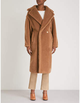 Max Mara Teddy camel-blend coat
