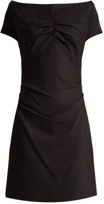 Helmut Lang Off-the-shoulder crepe dress