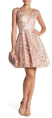 Marina Embroidered Mesh Dress