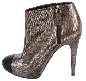 Chanel CC Metallic Booties