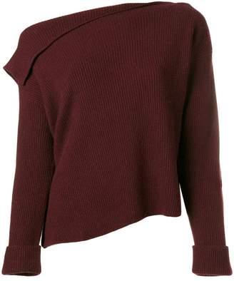 Vince off-shoulder ribbed sweater