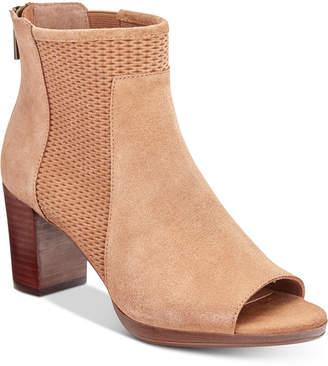 Bella Vita Luna Peep-Toe Booties Women's Shoes